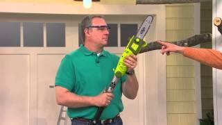 Sun Joe Electric Multi-Angle Telescopic Pole Chainsaw with Dan Hughes