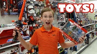 TARGET TOY SHOPPING HAUL ROBLOX MINECRAFT TOYS UNBOXING STAR WARS | COLLINTV