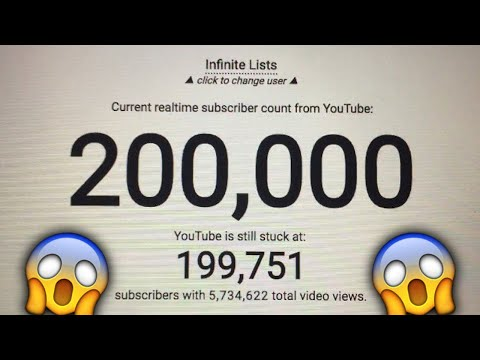 200,000 Subscribers In 7 Days! | Infinite Lists