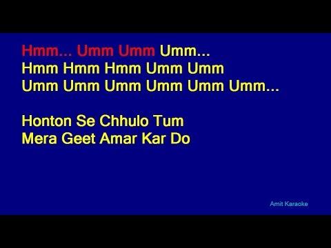 Honton Se Chhulo Tum - Jagjit Singh Hindi Full Karaoke with Lyrics