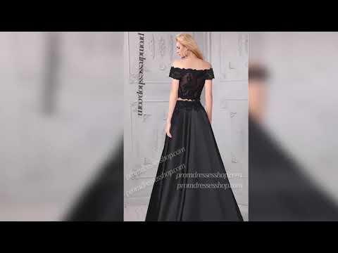 stellar-off-the-shoulder-lace-applique-high-thigh-slit-two-piece-satin-dress