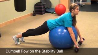Get On the Ball with Lauren Hubbard | Dumbell Row On the Stability Ball