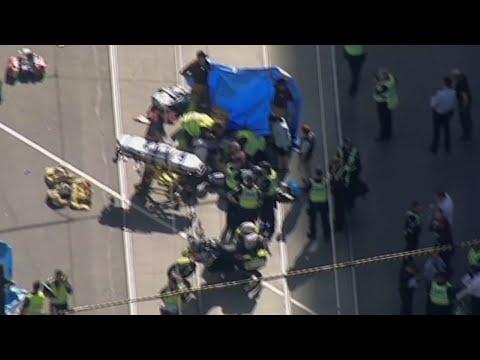 Raw: Car Rams People on Australia Sidewalk
