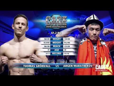CAGE48  Tuomas Grönvall vs Argen Maratbekov Fight Highlight CAGE48