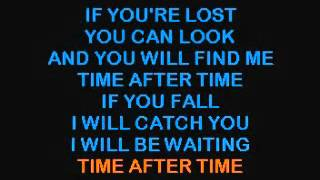 Cyndi Lauper   Time After Time   SD Karaoke Productions   YouTube