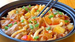 【小穎美食】番茄肥牛這樣做太香了,肉嫩湯鮮,配上一碗米飯,連湯汁都不剩!