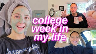 college week in my life | opening up, late night studying and eating healthy