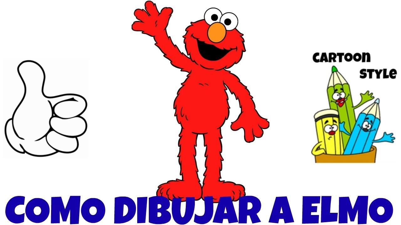 Como Dibujar a Elmo - How to Draw Elmo - Plaza Sésamo - Cartoon ...