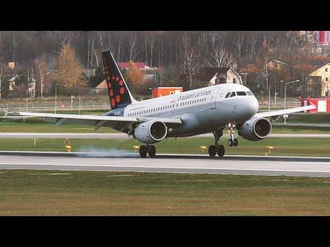 Брюсселец «тупанул» на новой полосе в Шереметьево. Посадка и руление #Airbus A319 #BrusselsAirlines.