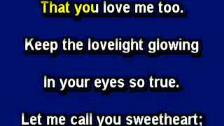 Let Me Call You Sweetheart, Karaoke video with lyrics, Instrumental version