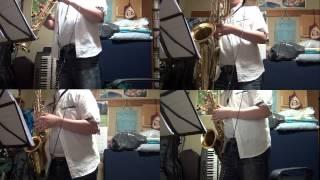 """Peacherine Rag"" (Scott Joplin, arr. Bruce A. Evans) on Sax Quartet ""by myself"""