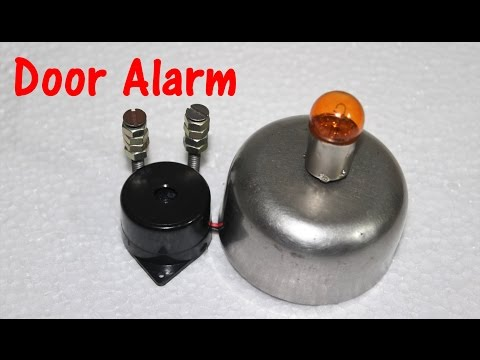 3 Simple ways to make a Door Alarm/ Theft alert Alarm