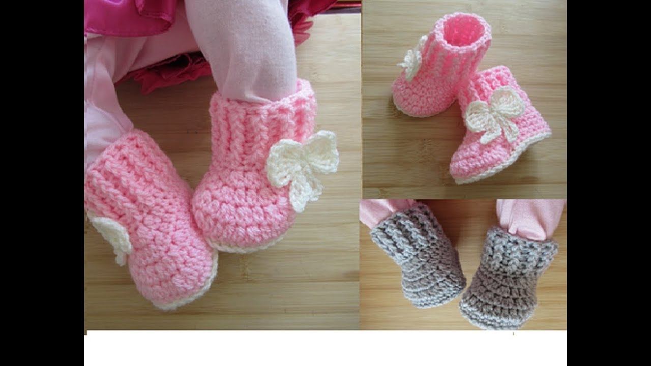 846068fc725a Crochet baby booties tutorial newborn 0-3 months 0-6 months Designed by  Happy Crochet Club