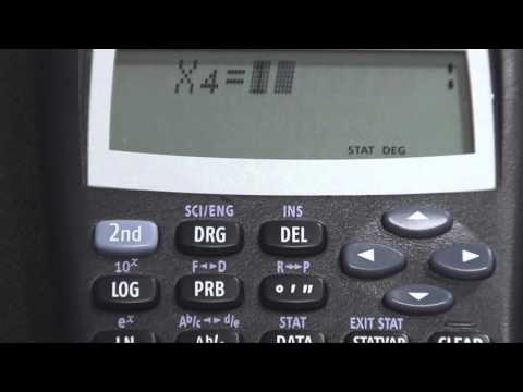 TI-30 XIIS Mean-Standard_Deviation-Variance