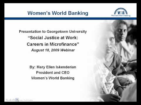 Social Justice At Work: Careers In Microfinance