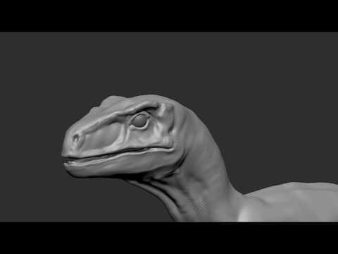 Raptor dinosaur sculpting feedback