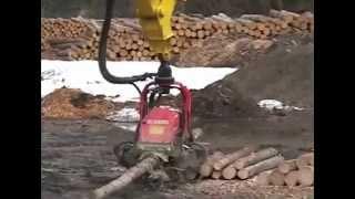 Вам нужно наколоть дров? – вызывайте гидравлический экскаватор Komatsu!(, 2015-08-22T17:13:27.000Z)
