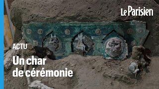 Italie : découverte exceptionnelle d'un char de l'époque romaine à Pompéi