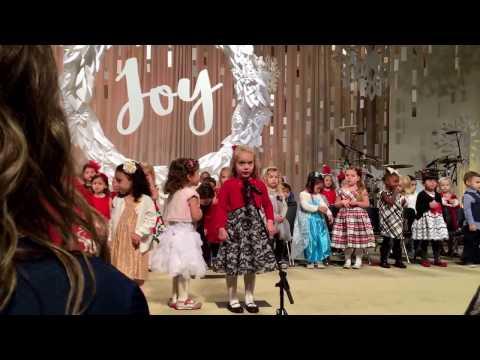 The Pledge of Allegiance by Raegan. Stonebridge Christian Academy, Christmas Program 2016.