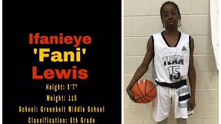 IFANIEYE LEWIS: 8th Grade Winter 2017 Highlights
