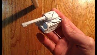 Origami dollar tank