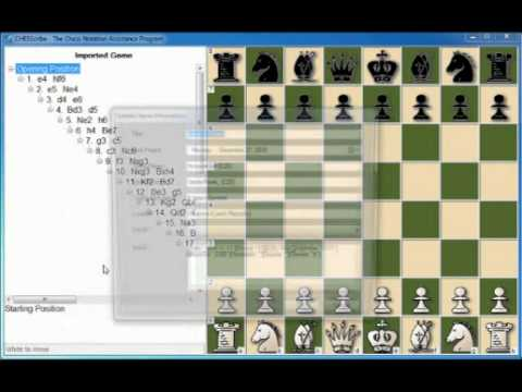 Importing a PGN game into CHESScribe