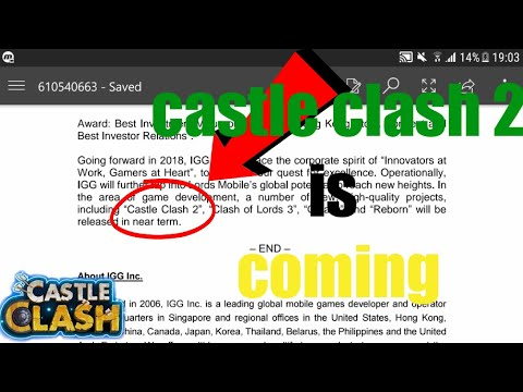 PROOF That Castle Clash 2 IS Coming And How Much Does IGG Make?