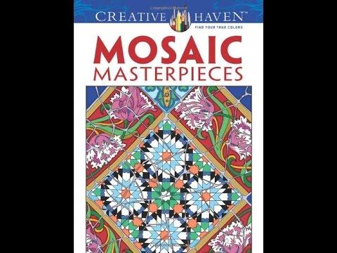flip-through-dover-creative-haven-mosaic-masterpieces-coloring-book