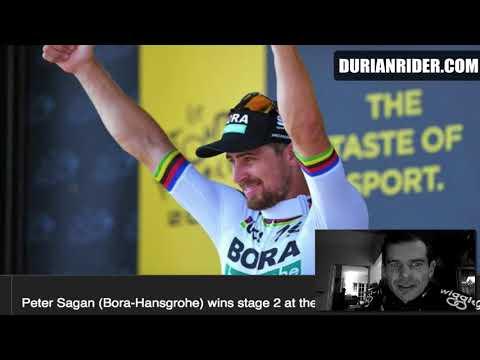 Tour De France 2018 Stage 2 Highlights & Peter Sagan Takes Yellow