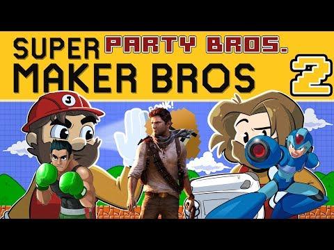 New Super Mario Maker | Let's Play Super Party Bros. Ep. 2 | Super Beard Bros.