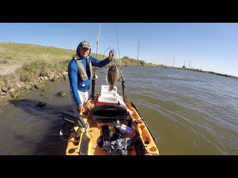 Dinner will be good, kayak fishing the marsh at Moses Lake Texas City
