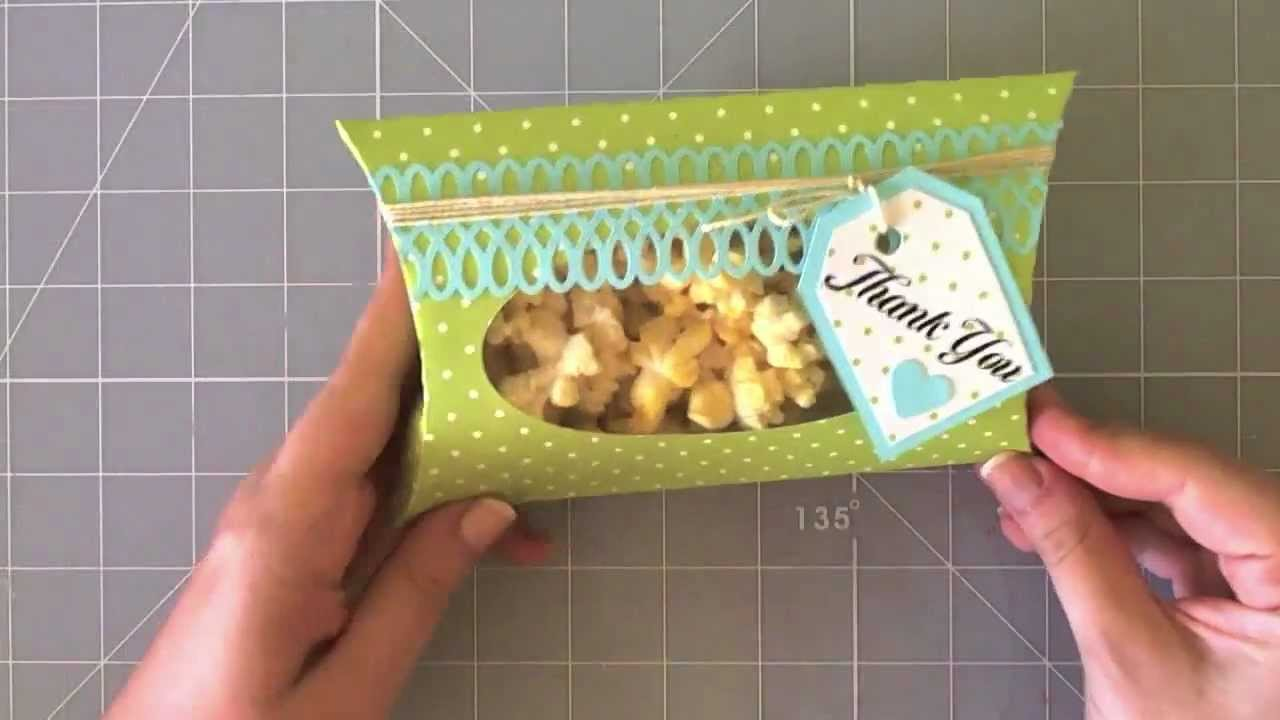 Pillow box - Caja con forma de almohada - YouTube