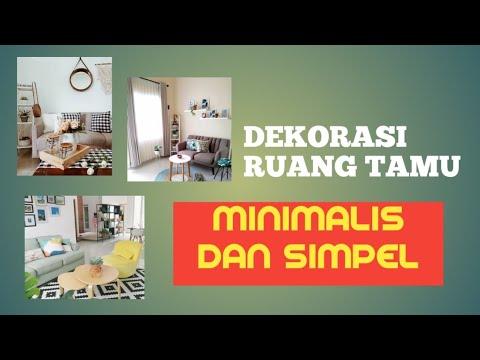 dekorasi ruang tamu minimalis (1) - youtube