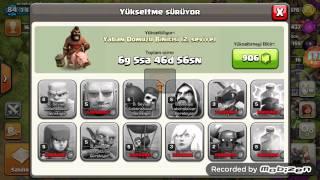 Satilik clash of clans çari 85 lewel 55 tl pazarli