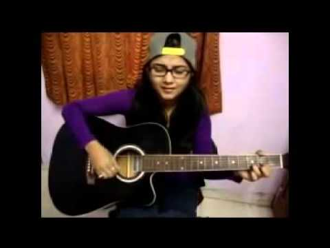 Cewek Cantik Main Gitar dan nyanyi lagu India bagus sekali  Merinding dibuatnya
