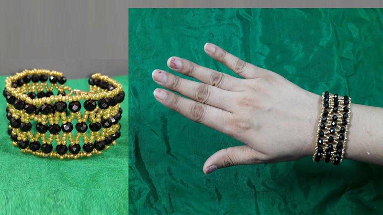 Elegant Pearls Bracelet   DIY Beaded pearls Bracelet