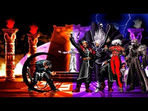 Kof Mugen Boss Orochi Iori AR VS Super KOF Bosses Team