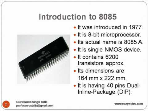 Block Diagram of 8085 - YouTube