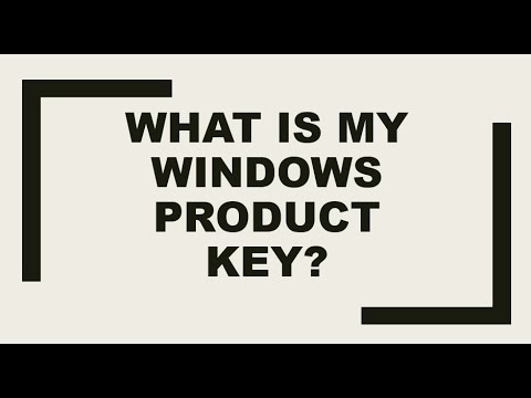 Retrieve Original Windows Product Key