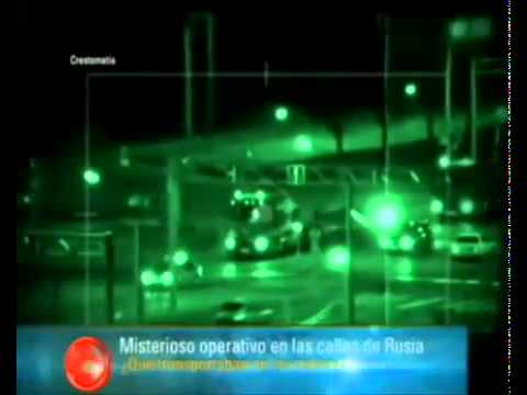 Secret UFO Transport In The Streets Of Russia!.flv