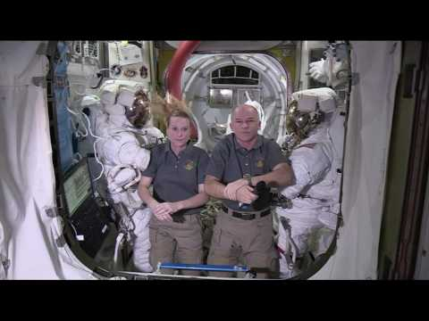 Space Station Crew Discusses Upcoming Spacewalk and Research