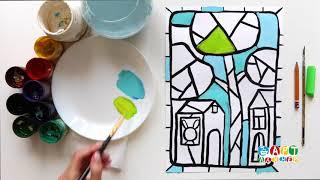 Рисуем весенний город. Урок рисования для детей в онлайн-школе рисования Артлайнер