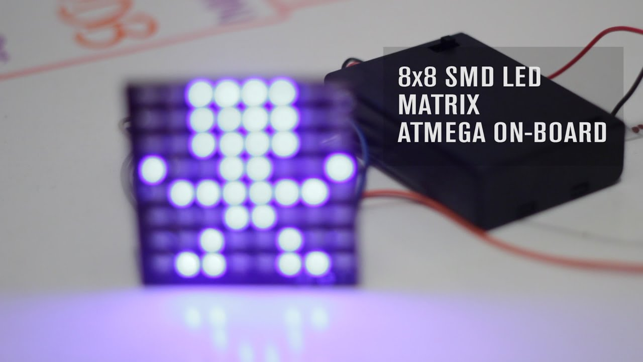 Arduino SMD LED Matrix 8x8: The all-in-one board