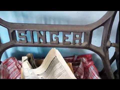 Швейная машинка SINGER 1869 года выпуска, под реставрацию.