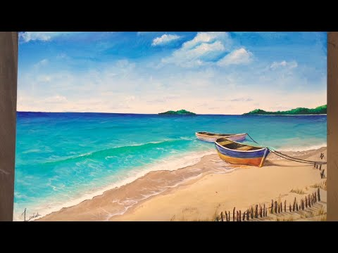 Acrylic Beach Paintings For Beginners