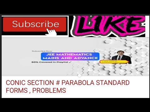 CONIC SECTIONS#PARABOLA#JEE#BITSAT#MHCET#EMCET#title Conic Section - Introduction To Conic Sections