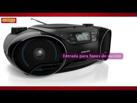 CD Player Philips MP3 Rádio AM/FM AZ3811