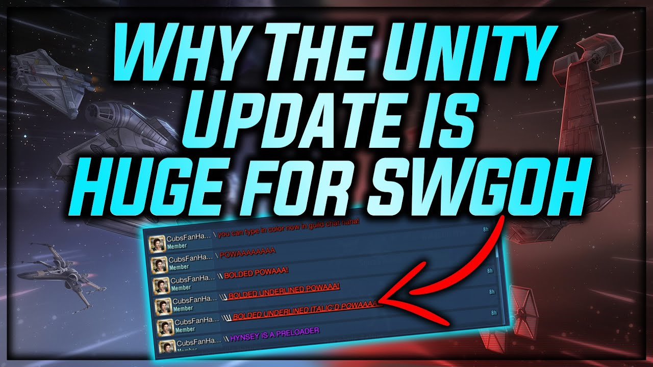 Why The Unity Upgrade Is HUGE For SWGoH + An AWESOME Easter Egg In Game