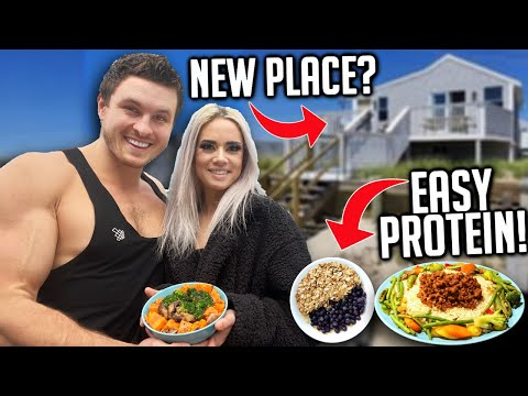 WHAT I ATE TODAY VEGAN MUSCLE, PROTEIN MEALS  NEW HOUSE!