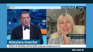 Rektör Prof. Dr. Özlenen Özkan, NTVde Sadık Gültekinin sunduğu Doğru Tercih programına konuk oldu